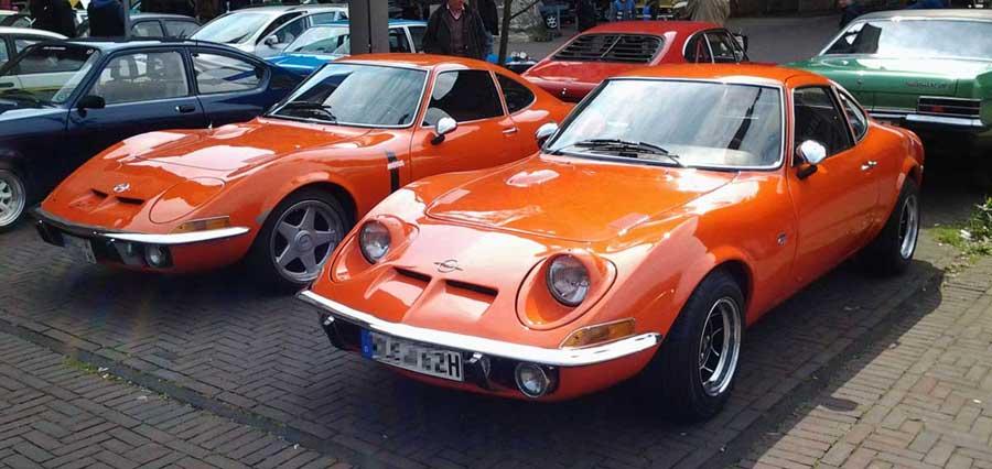 Opel GT Oldtimer wie Zwillinge