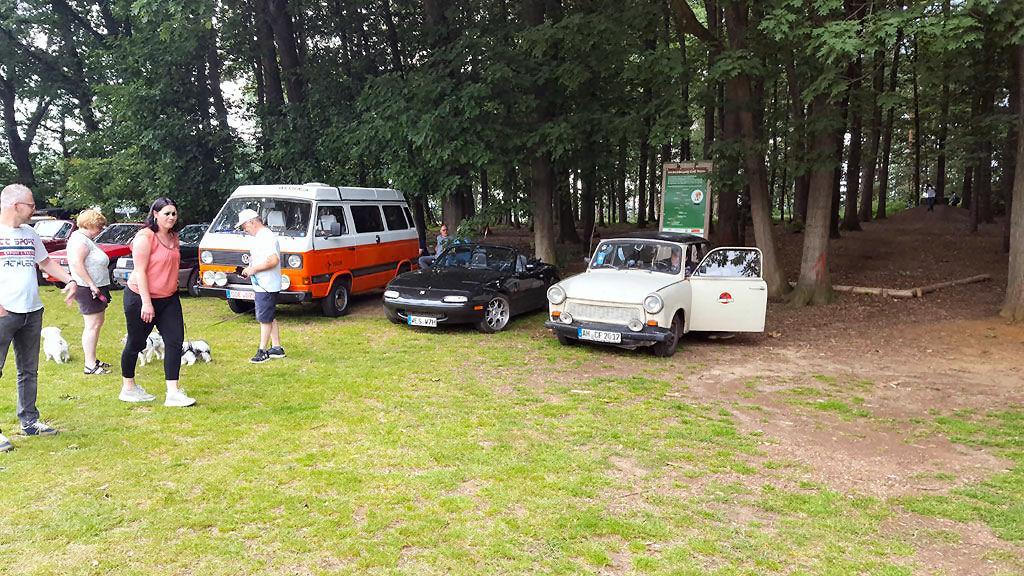 Oldschool Treffen alter Autos