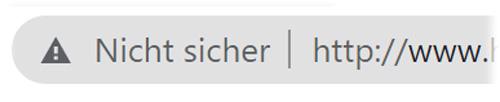 Anzeige Unsichere Webside