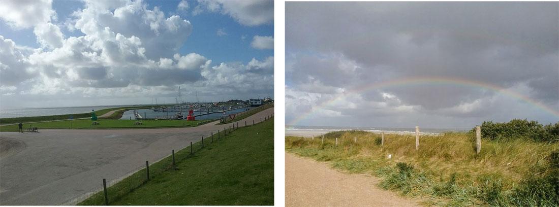 Regenbogen auf der Insel Texel