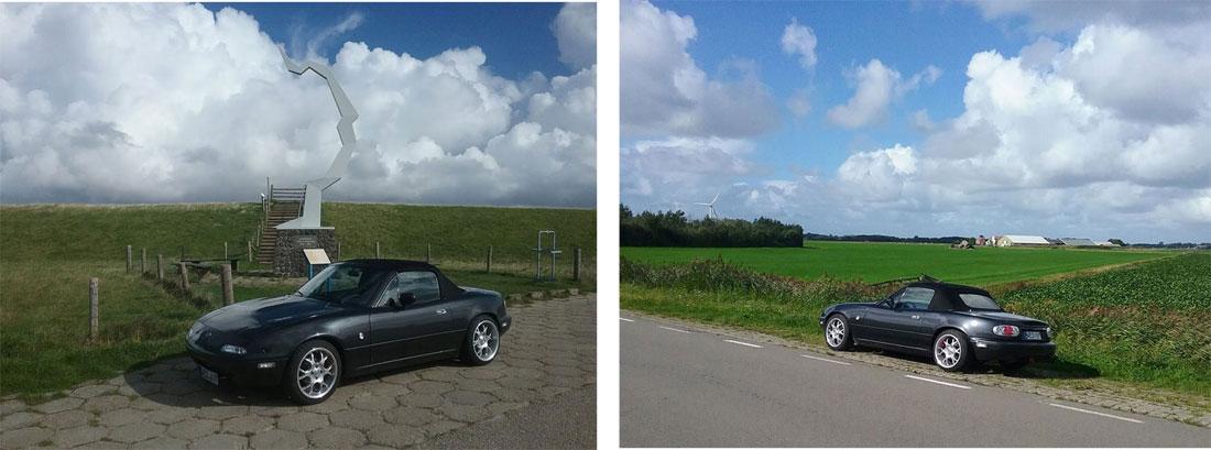 Rundfahrt auf Texel mit dem Mazda MX5