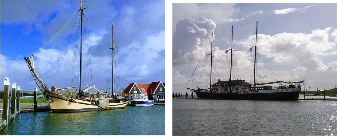 Segelschiffe im Hafen von Oudeschild