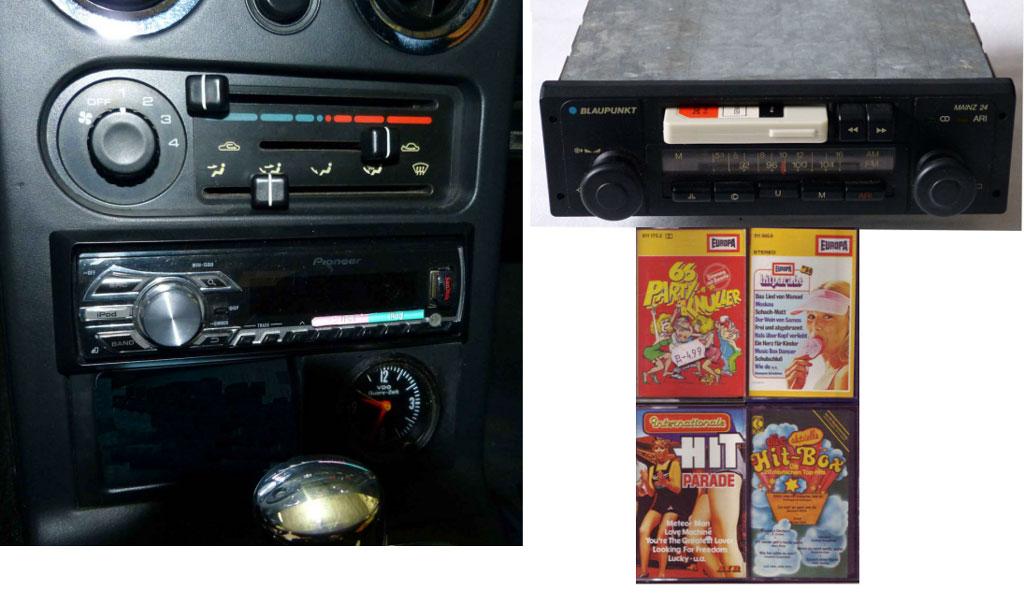 History vom Autoradio von Pioneer mit Kkassetten