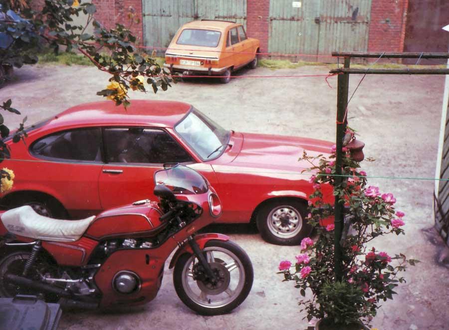 Bild Ford Capri und der Honda Boldor