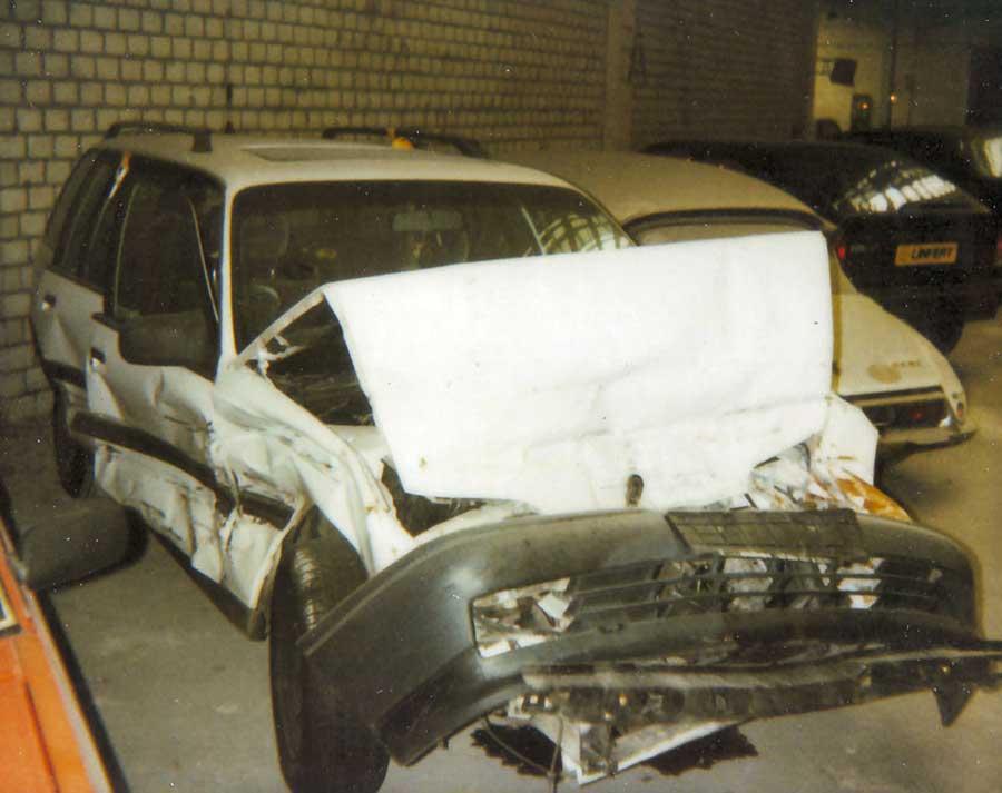 Schrottplatz Opel Kadett Kombi: Unfall