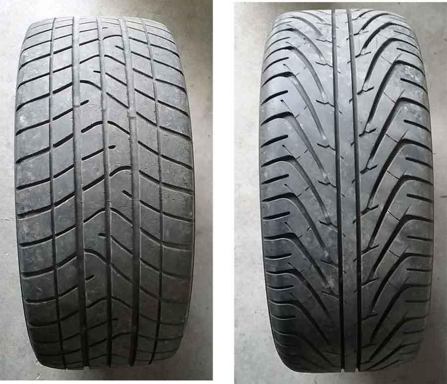 Bild der Reifen von den Borbet Alufelgen