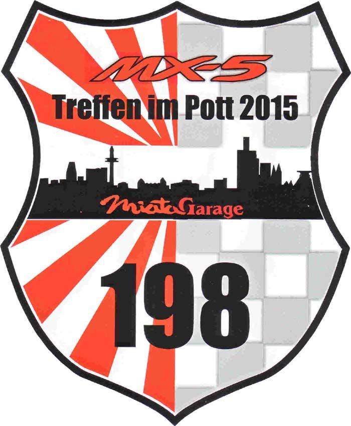 Startnummer vom MX5 Treffen 2015