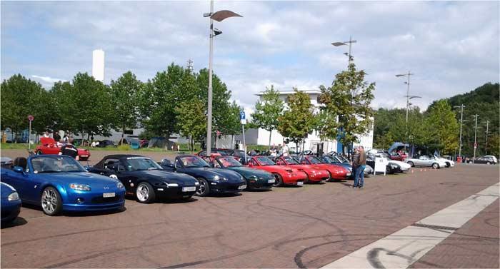 Fahrzeuge vom MX5-Treffen 2015