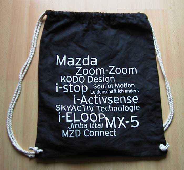Zoom Zoom Rucksack vom MX5 Treffen