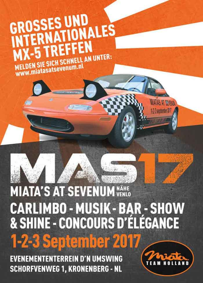 Flyer Miata Treffen Holland 2017