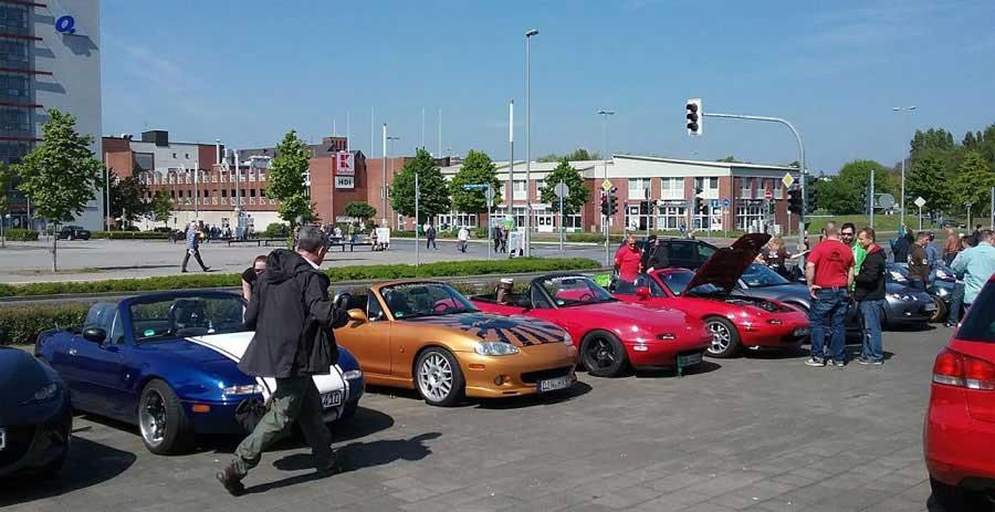 MX5 Cabrioletts auf dem Treffen in Oberhausen