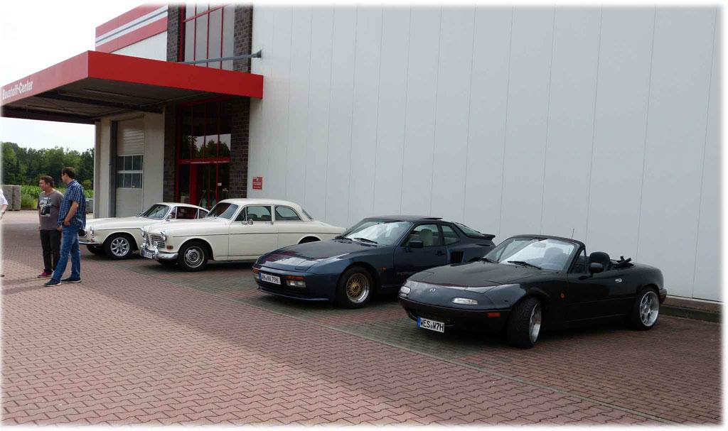 Parkplatztreffen Baumarkt mein MX5 NA