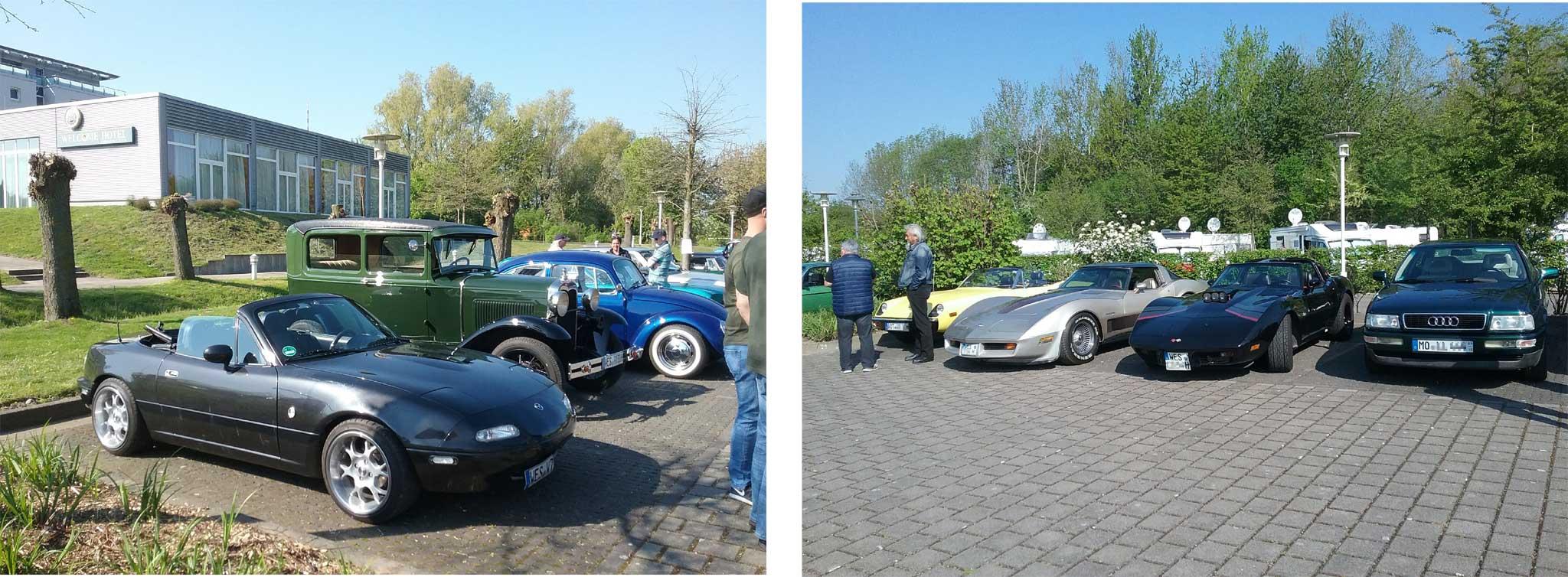 Youngtimer Events, Mehrere Corvette Stingray und der MX5