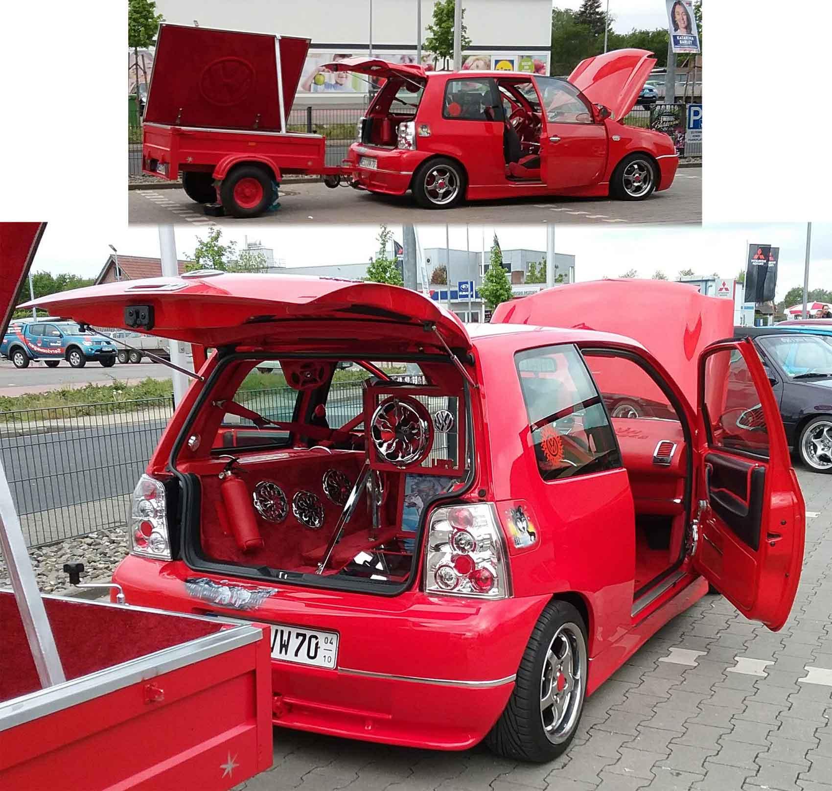 VW Polo mit Anhaenger vom Treffen in Xanten